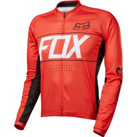 Fox Ascent Miehet Pyöräilypaita pitkähihainen , punainen